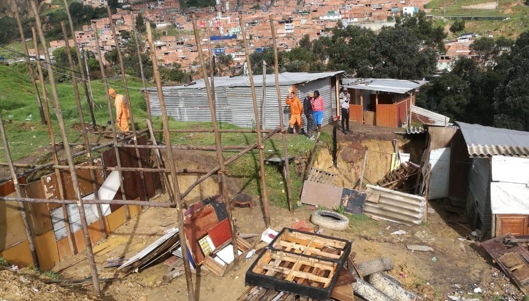 Autoridades reportan damnificados por lluvias en Ciudad Bolívar