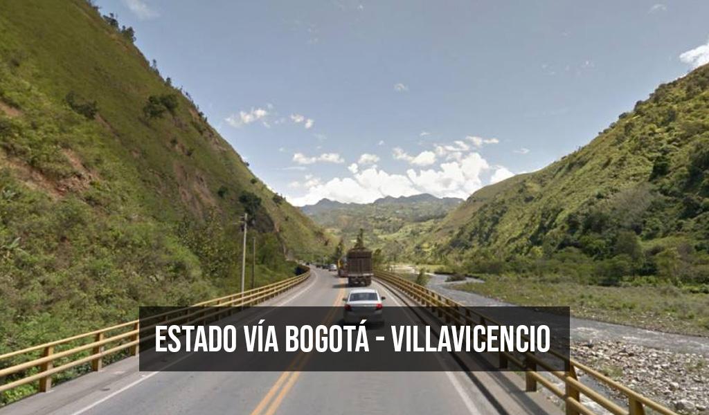 Estado de la vía Bogotá – Villavicencio para Semana Santa