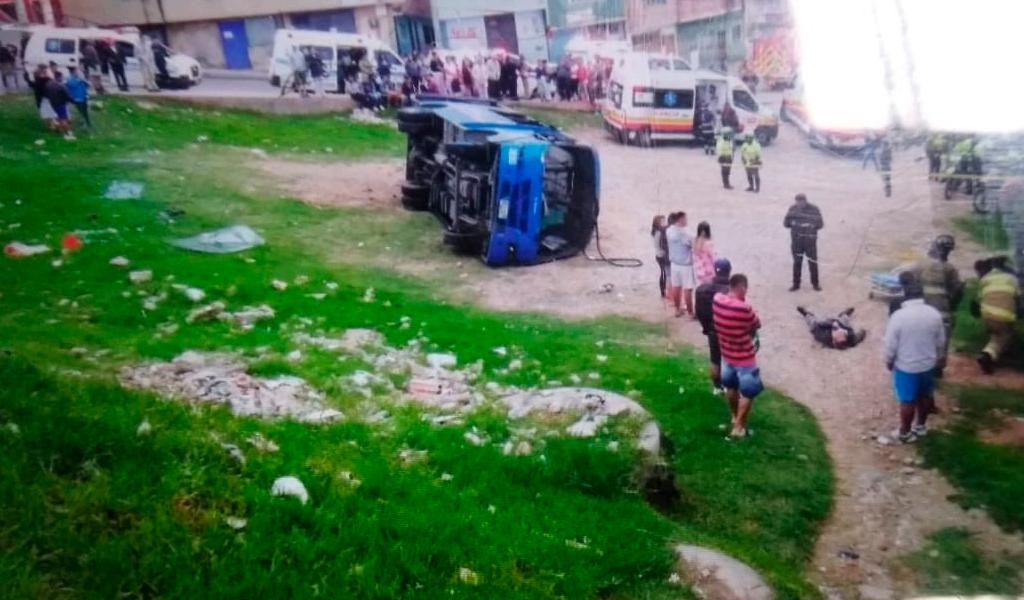 bus sitp volcó Ciudad Bolívar