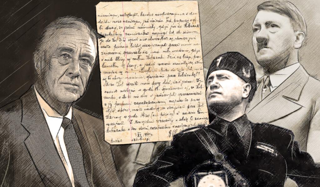 """La carta """"por el temor a la guerra"""" de EE. UU. a Hitler"""
