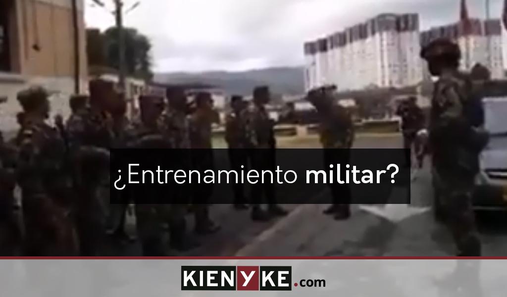 Video viral del Ejército era un dramatizado