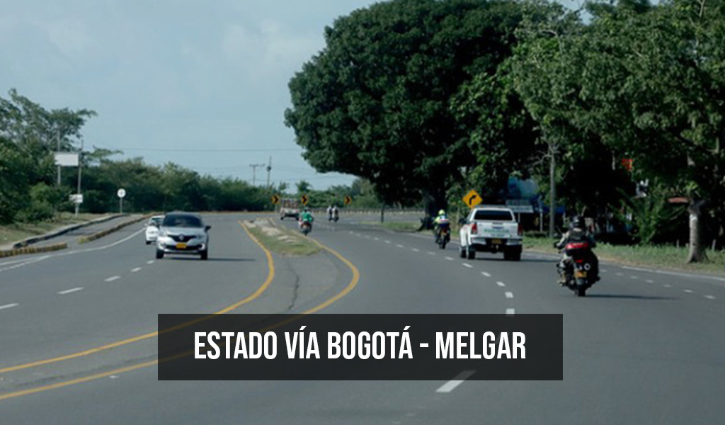 Estado de la vía Bogotá – Melgar para Semana Santa