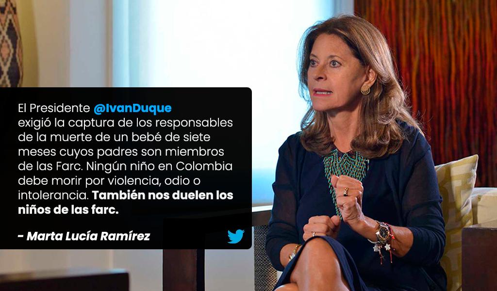 """""""Niños de Farc"""", el trino polémico de Marta Lucía"""