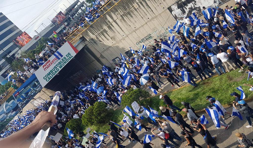 25 detenidos dejó marcha opositora en Nicaragua