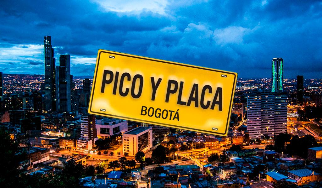 Este será el pico y placa en Bogotá para hoy viernes
