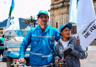 Recicladores adelantan protestas en Bogotá
