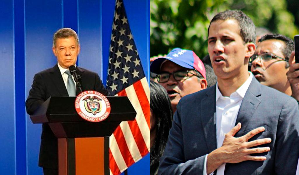 Santos a Guaidó: eres el faro de esperanza de Venezuela