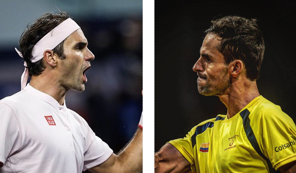 Roger Federer y Santiago Giraldo