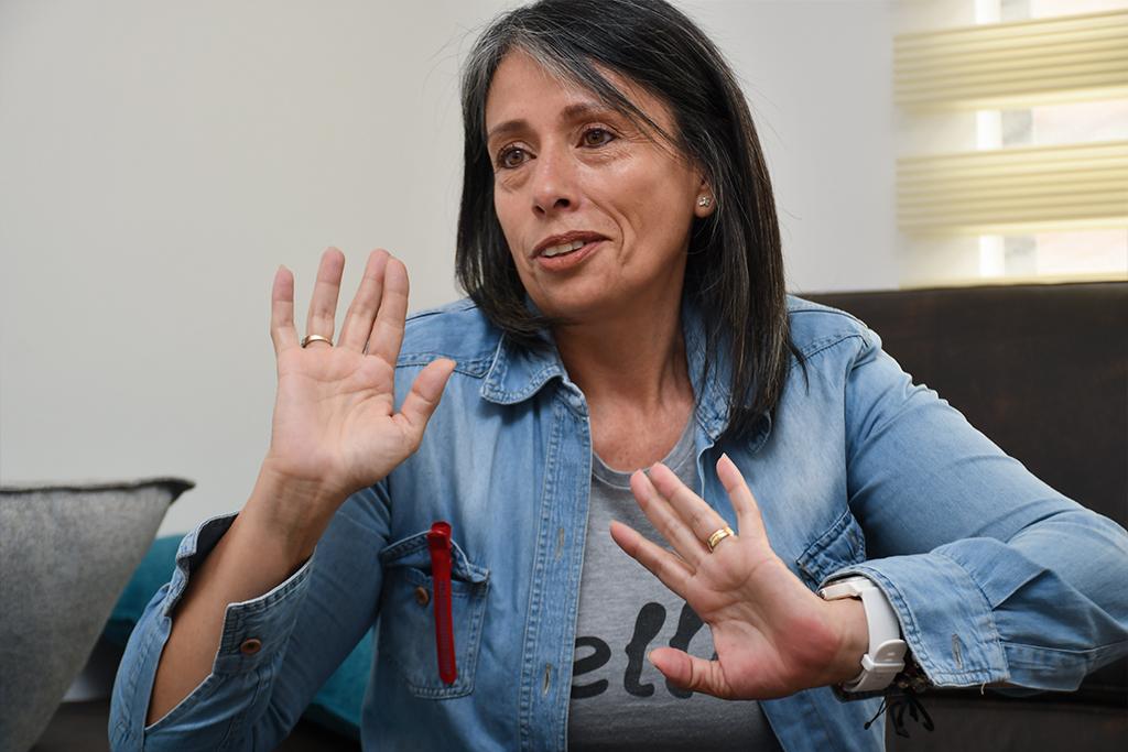 Carolina Rubio mamá de Esteban Chaves