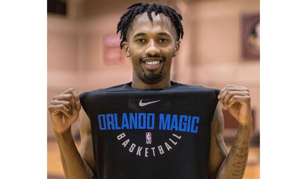 Braian Angola durante el Training Camp con Orlando Magic en el año 2018.