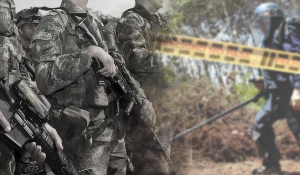 Soldados cayeron en campo minado en Antioquia