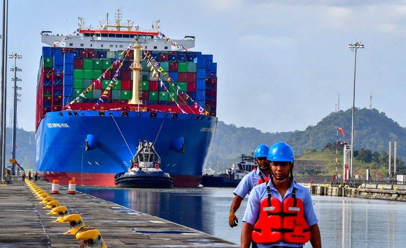 Sequía redujo los niveles de agua del Canal de Panamá