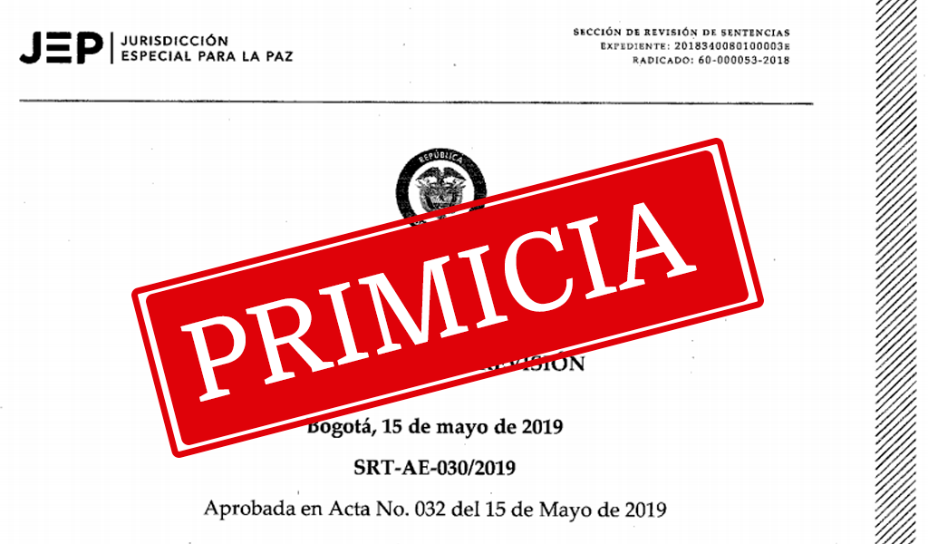 El documento íntegro de la decisión de la JEP sobre Santrich
