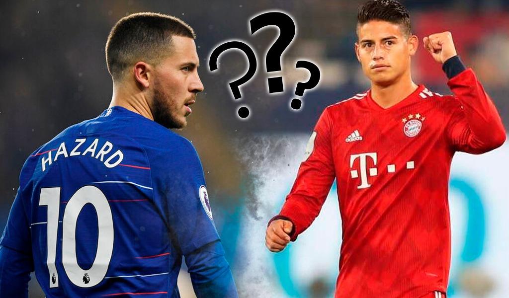 ¿James Rodríguez es mejor jugador que Heden Hazard?