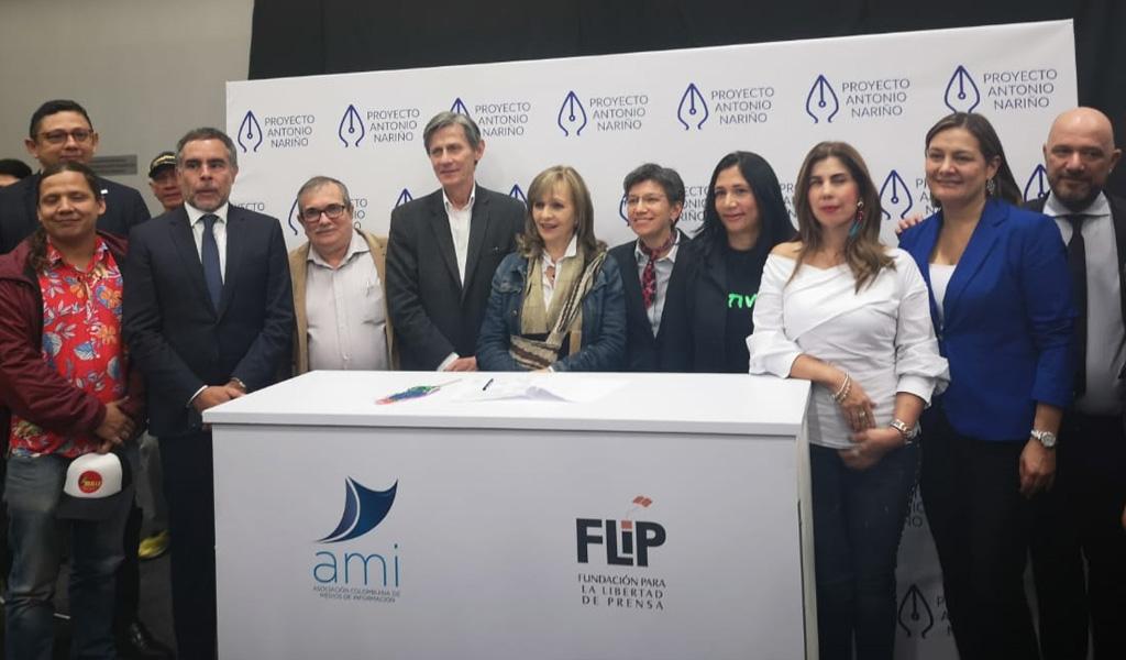 Partidos firmaron el 'Pacto por la Libertad de Prensa'