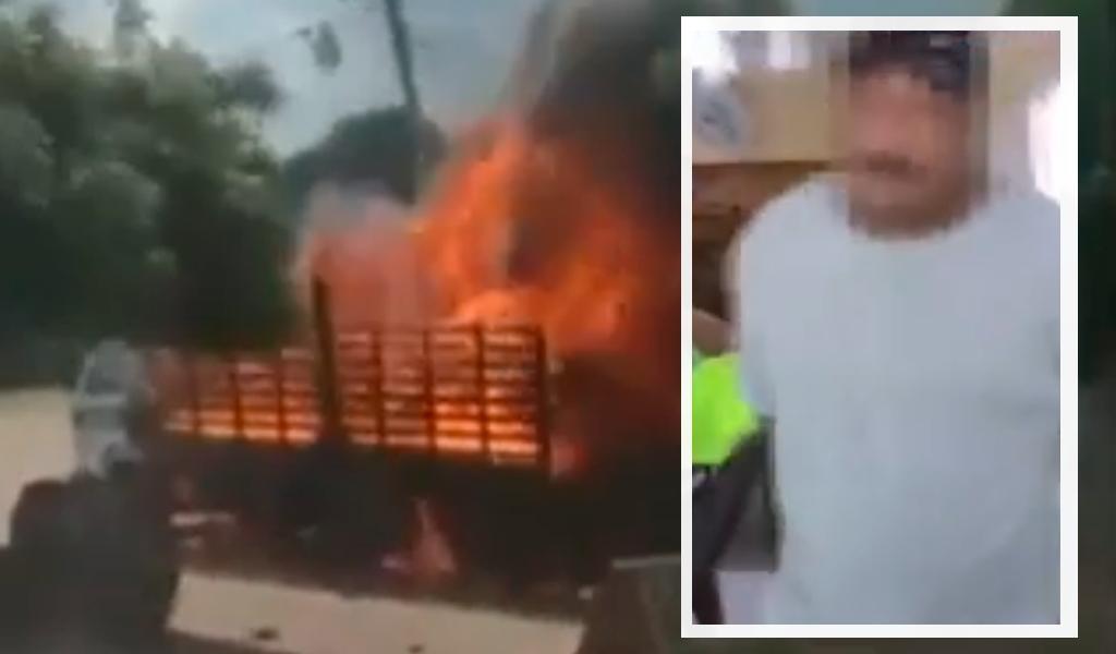 A la cárcel hombre que quemó camión policial en la Guajira