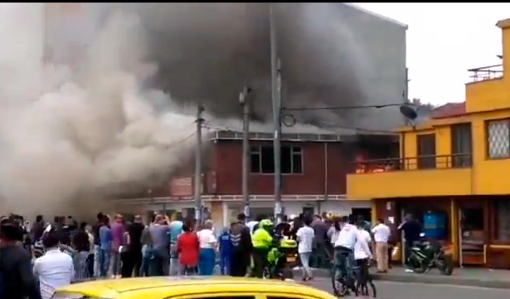 Emergencia por incendio se registra en Fontibón