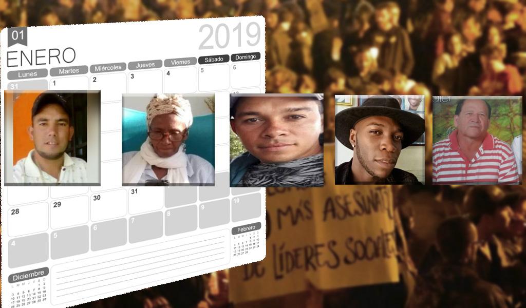 Indepaz: van 75 líderes sociales asesinados en 2019