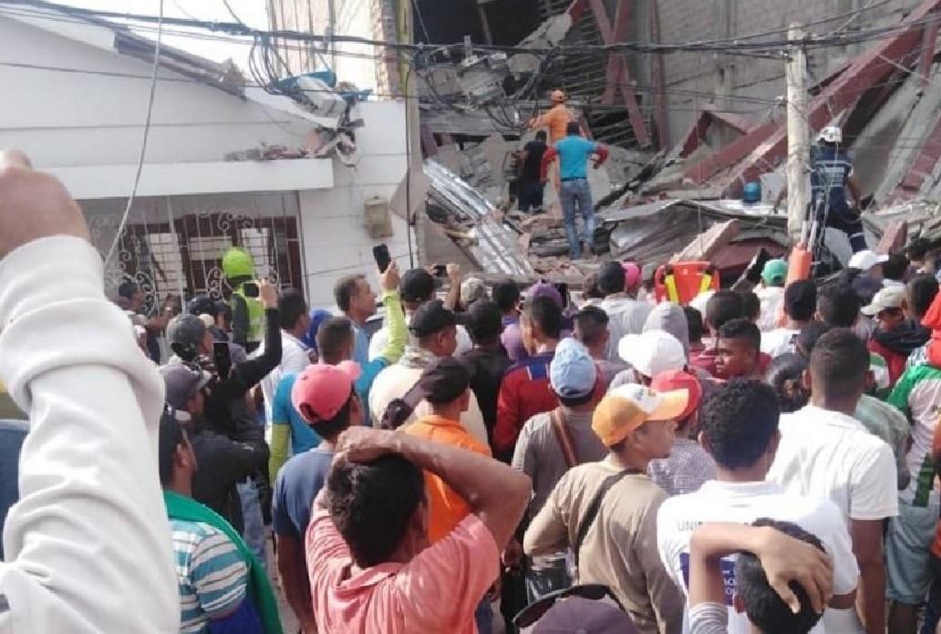 Nueve heridos por desplome de edificio en Magdalena