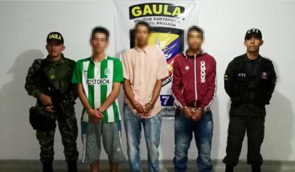 Santander, Piedecuesta, extorsión, desmantelan banda, Ejército