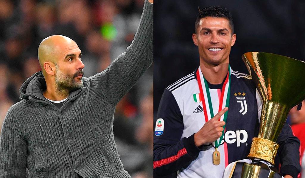 Pep Guardiola y Cristiano Ronaldo