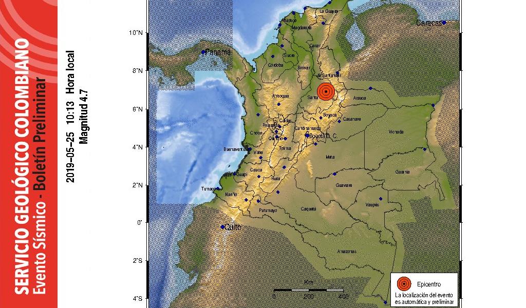 Fuerte temblor se registra en Santander