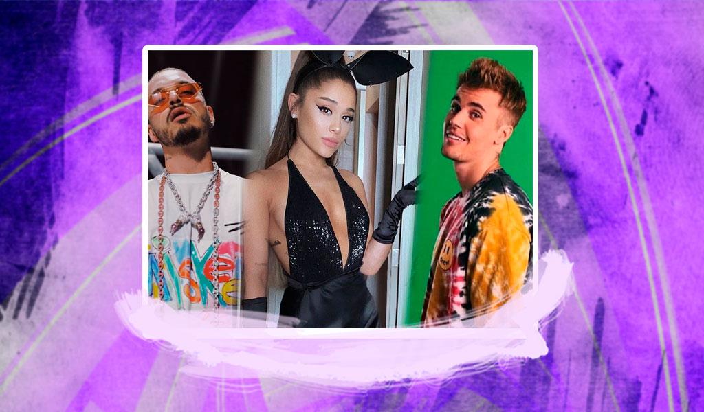 J Balvin, Ariana Grande, Justin Bieber