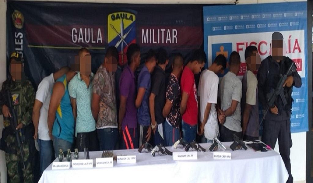 Antioquia, capturas, Ejército,