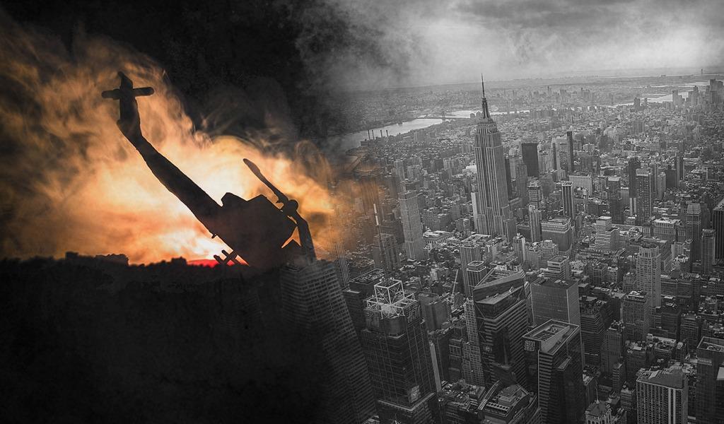 Helicóptero choca contra un edificio en Manhattan