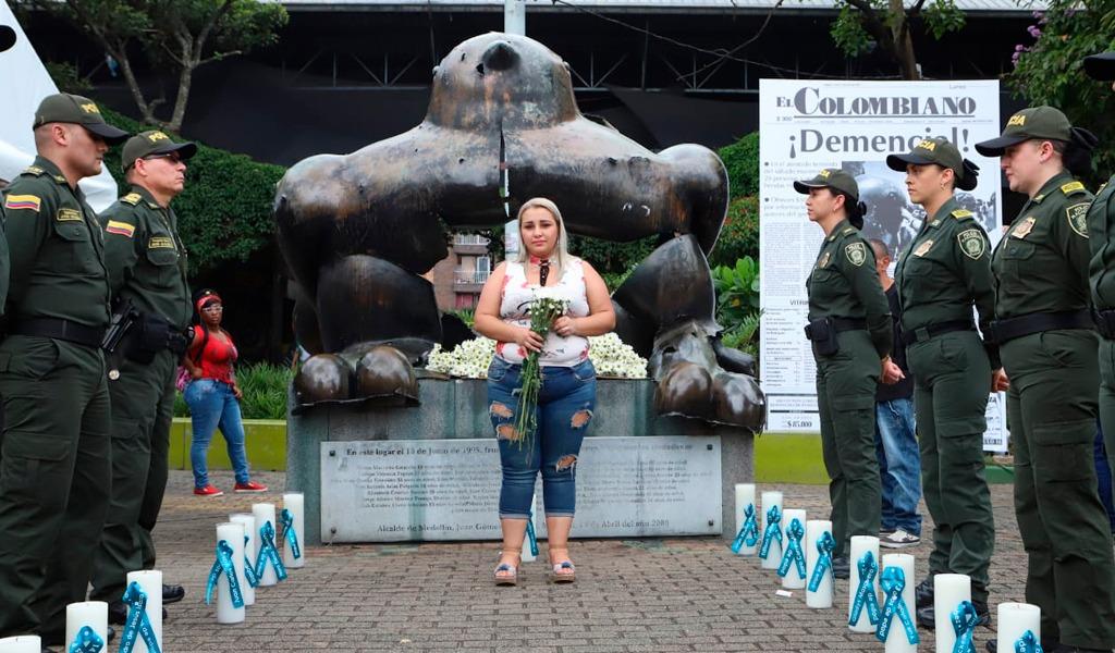 Medellín abraza su historia bomba Parque San Antonio- kienyke.com. Foto Alcaldía de Medellín