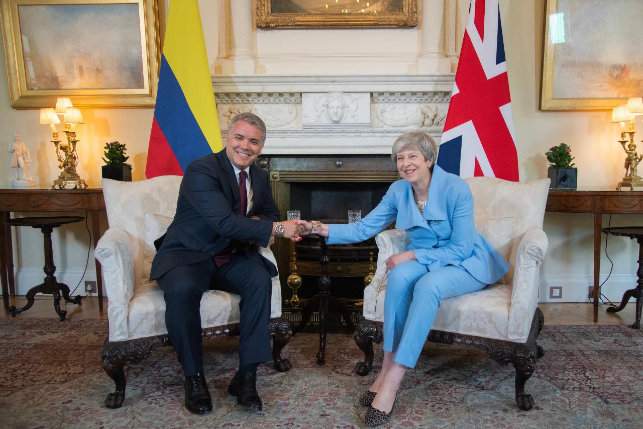 Iván Duque y Theresa May se reunieron en Londres