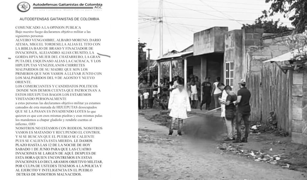 Autodefensas niegan el asesinato de líderes en Tierralta