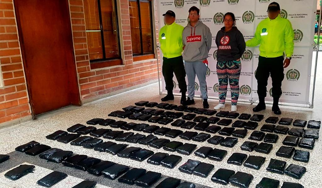 Policía incautó 63 kilos de marihuana en Medellín