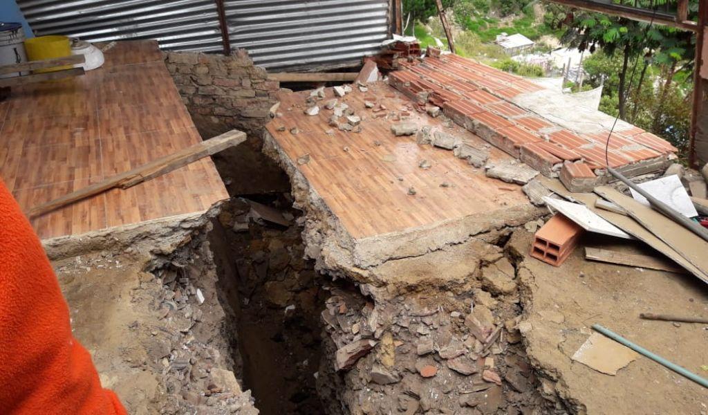 Más de 200 familias en Soacha damnificadas por deslizamiento