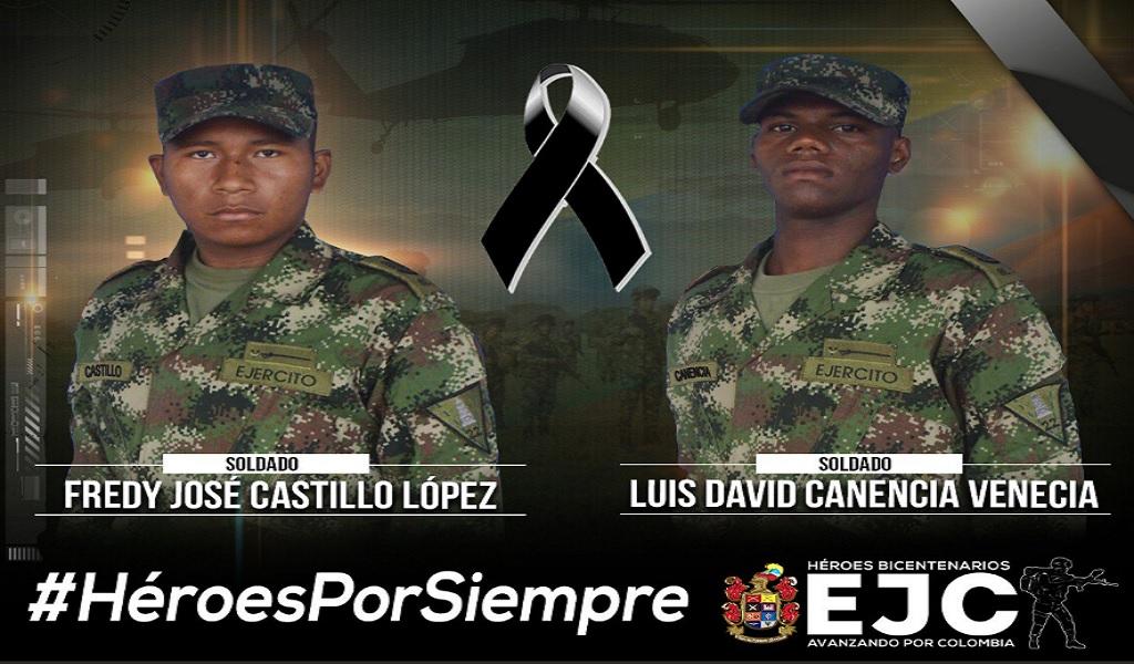 Dos soldados fallecieron en medio de atentado en Tame