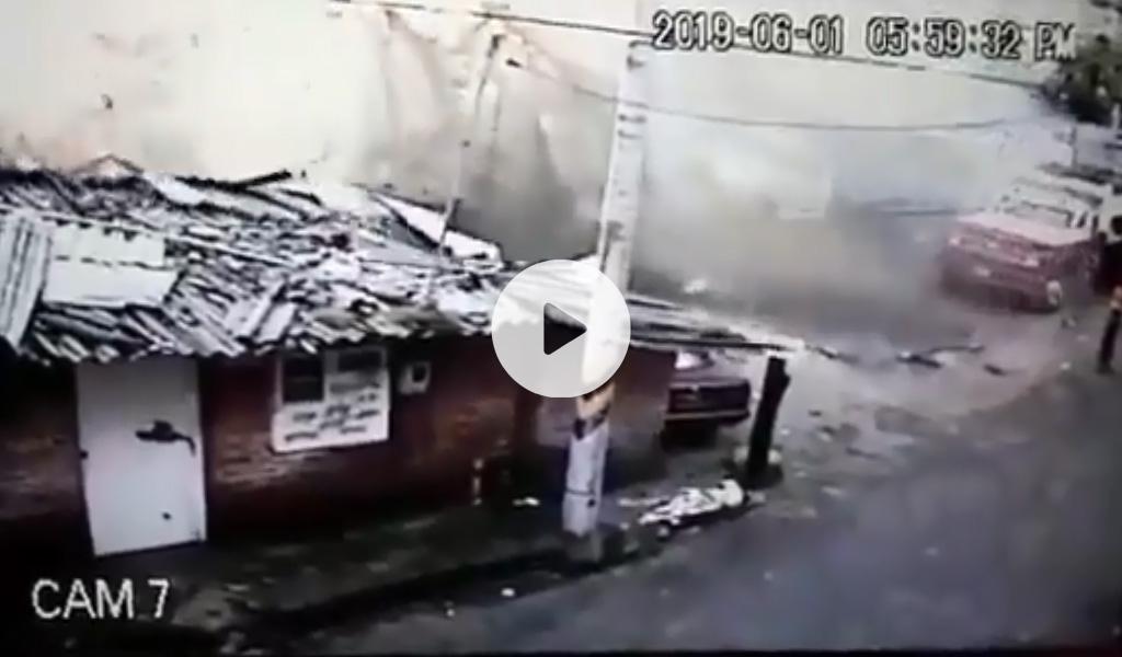 En video quedó registrado fuerte deslizamiento en Usaquén