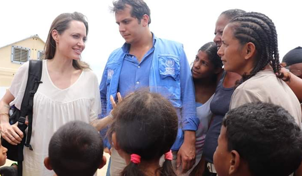 Así se vivió la visita de Angelina Jolie en la frontera