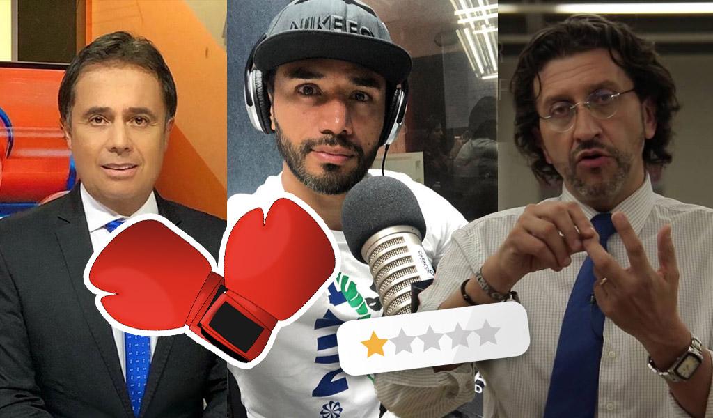 Fabián Vargas, Gabriel Meluk, César Augusto Londoño, periodistas, futbolistas