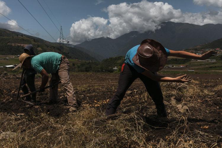 Venezolanos resisten con poca comida y menos gasolina