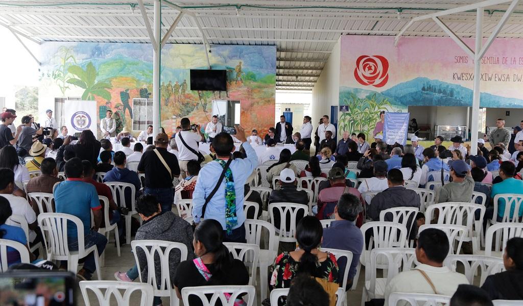 Se reúnen exFarc y líderes del Cauca con la ONU