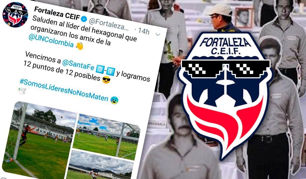 El club de fútbol Fortaleza se la jugó en Twitter