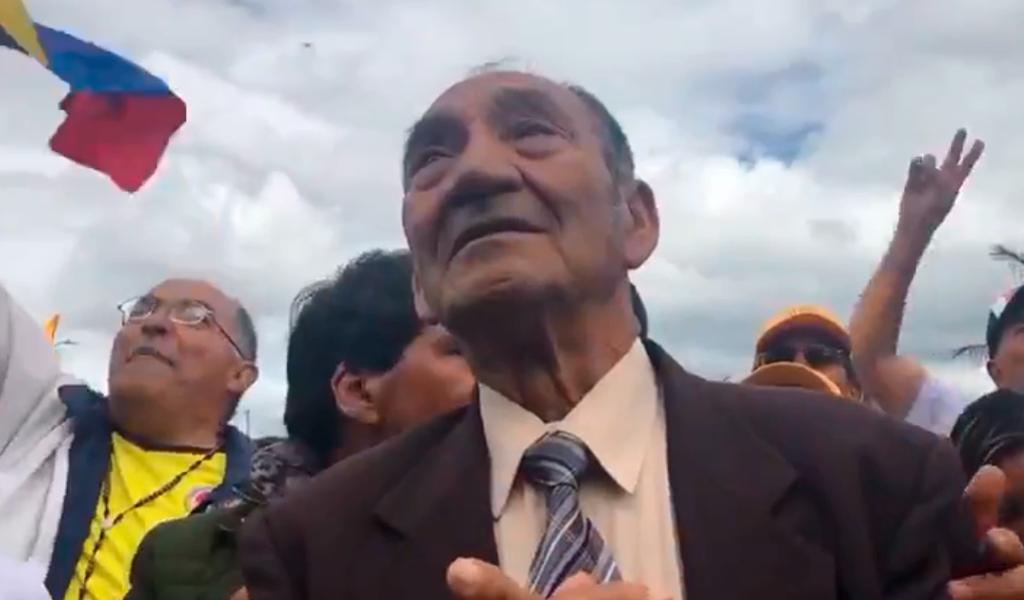 La emotiva celebración del abuelo de Egan Bernal