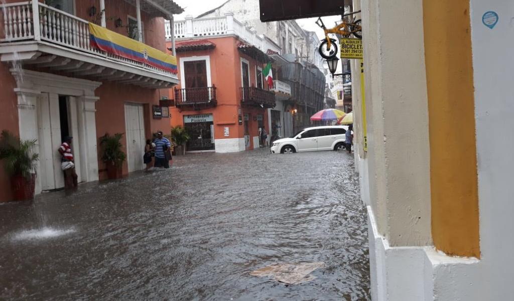 Este fue el saldo del aguacero en Cartagena