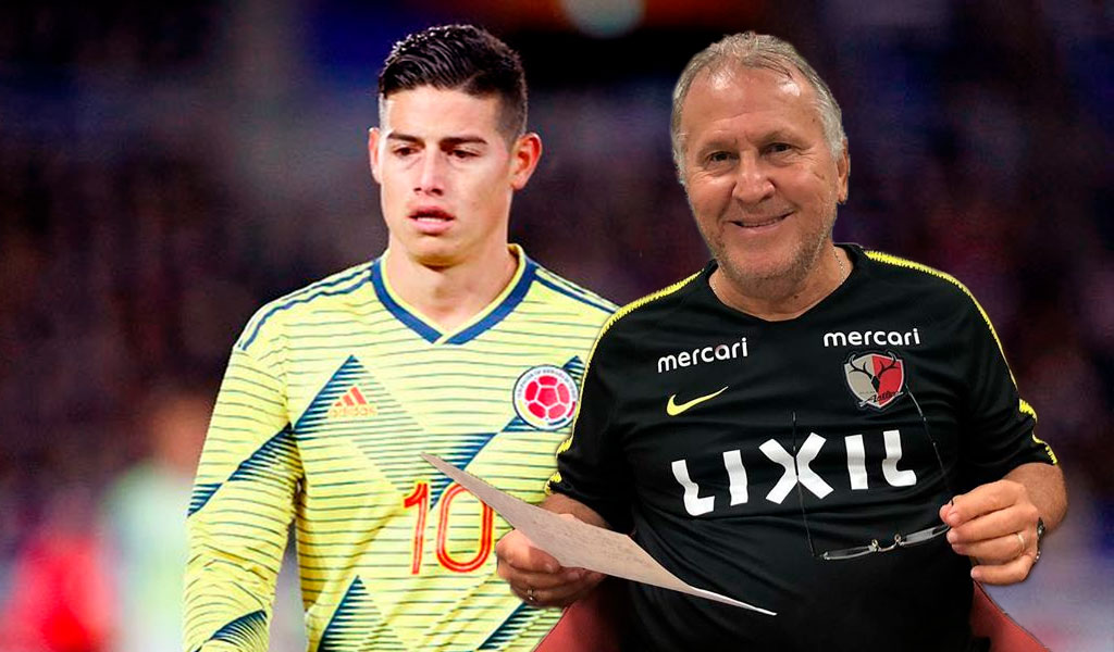 James Rodríguez, Zico