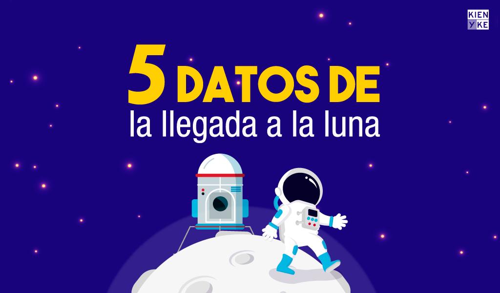 La llegada a la luna en cinco datos