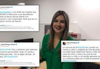 Los mensajes de apoyo y solidaridad a Vicky Dávila