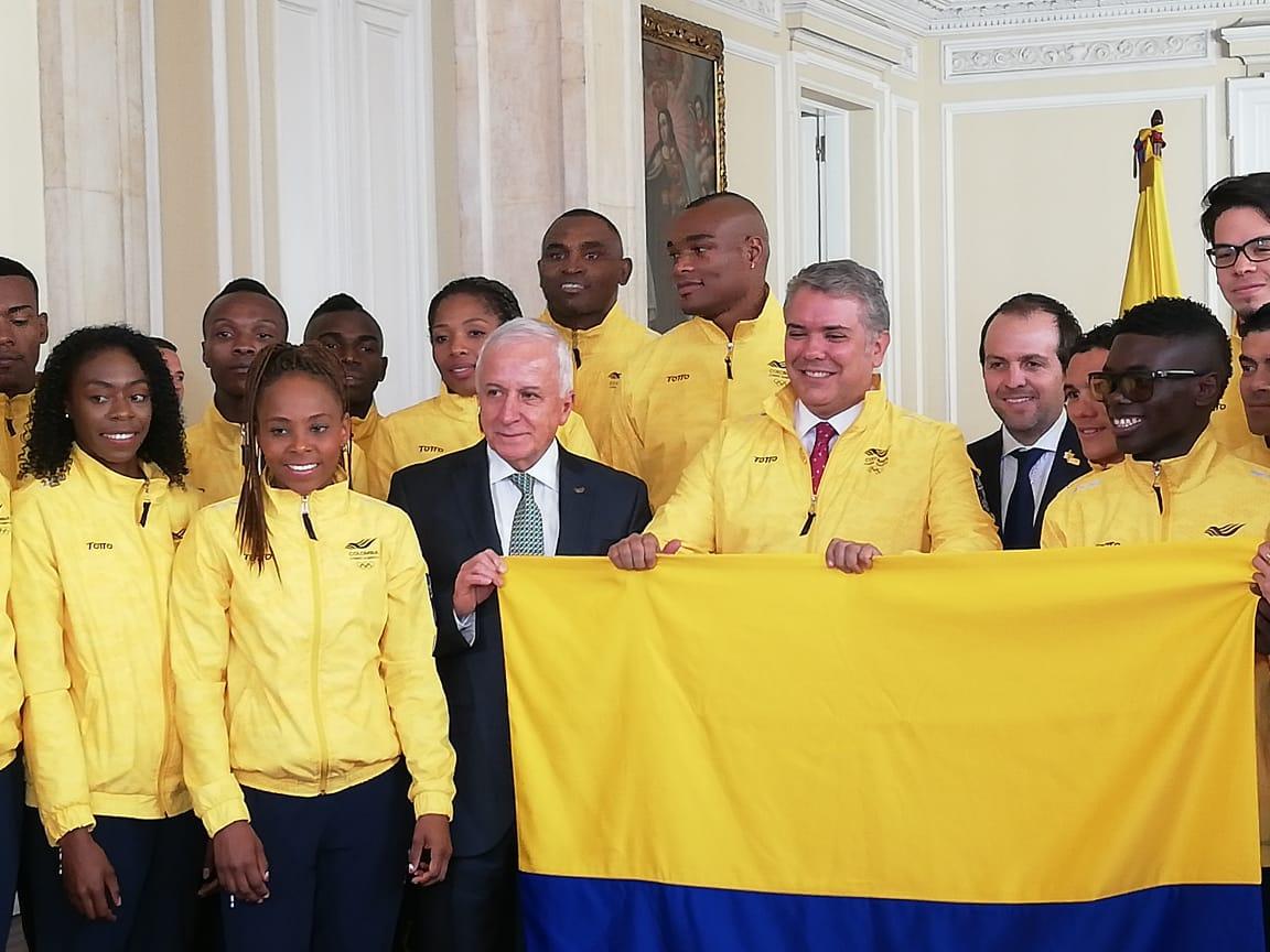 Duque entregó el Pabellón Nacional a deportistas panamericanos