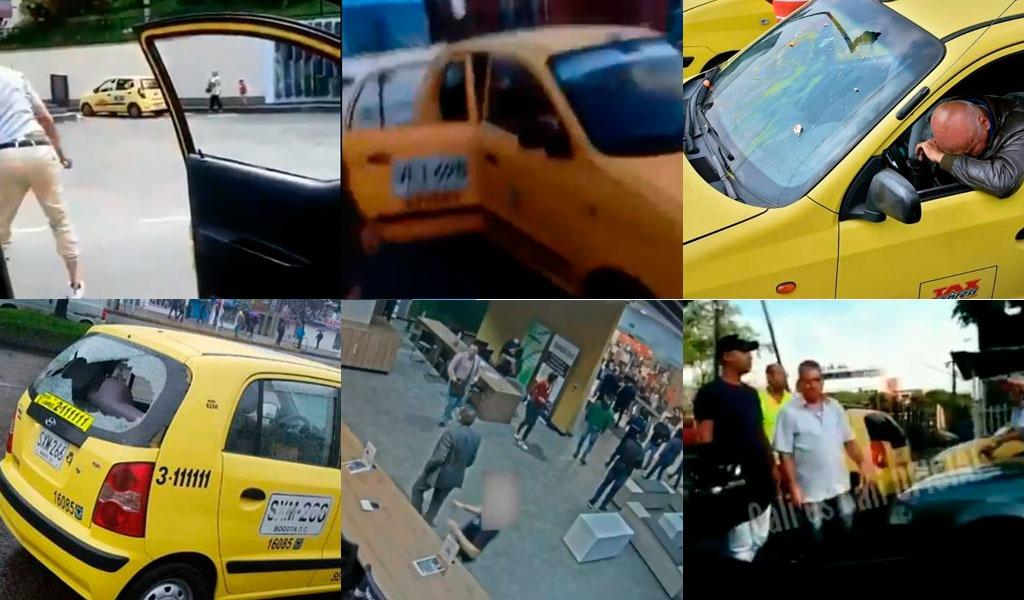 Rechazo a momentos violentos de paro de taxistas