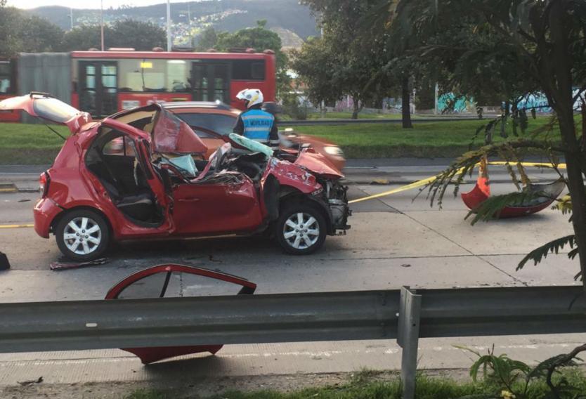 Grave accidente en la autopista Norte deja un muerto