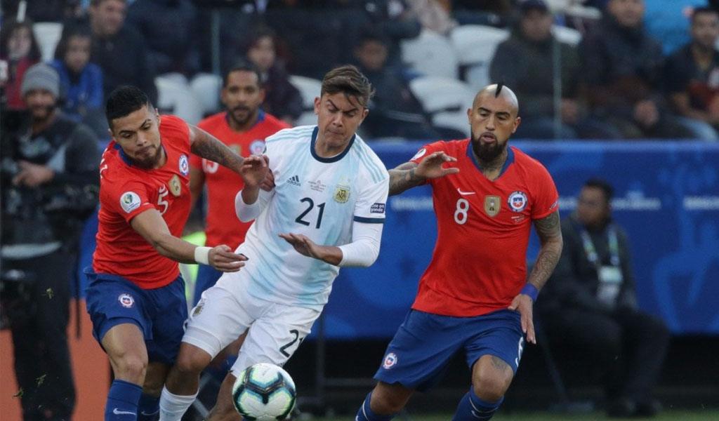 Argentina entra al podio de la Copa América